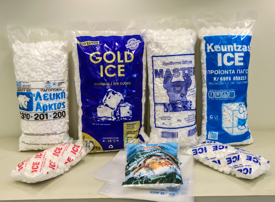 Ice cube  and Frozen Foods Bags and Packages